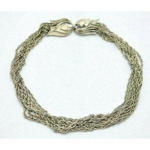 Lisner Silver Tone Multi-Strand Chain Link Choker